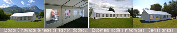 installation et location de tentes de reception et chapiteaux en pays de savoie
